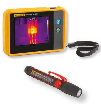 Fluke PTi120 - kapesní termokamera a svítilna Fluke 45 EX - 1