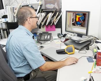 Běžná kontrola termokamery v sídle firmy Ahlborn Praha