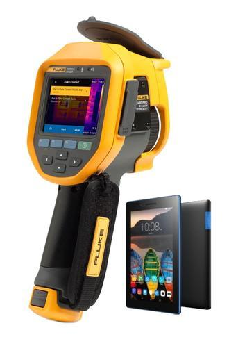 "Fluke Ti480 PRO termokamera + tablet Lenovo TAB 3 7"" Essential Ebony - 1"